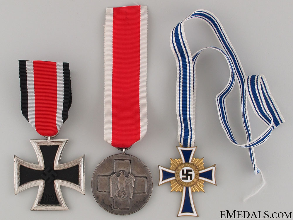 eMedals-Three WWII German Medals & Awards