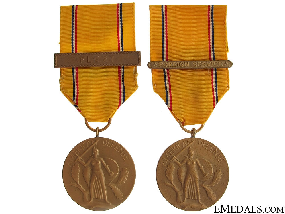 eMedals-Two American Defense Service Medals