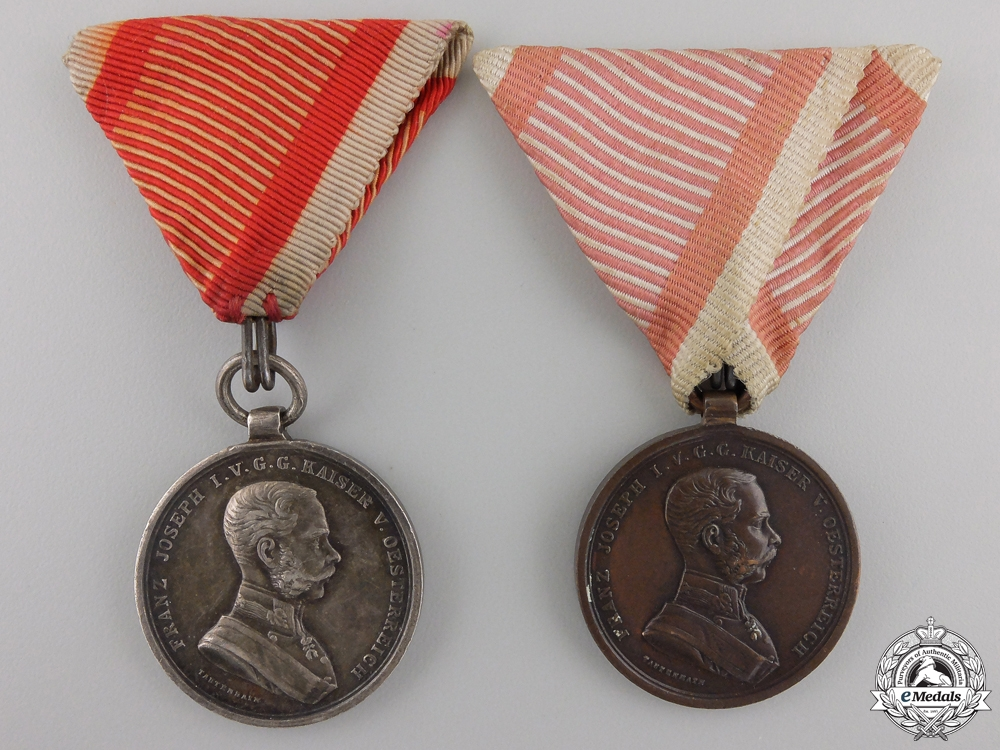 eMedals-Two Austrian Bravery Medals