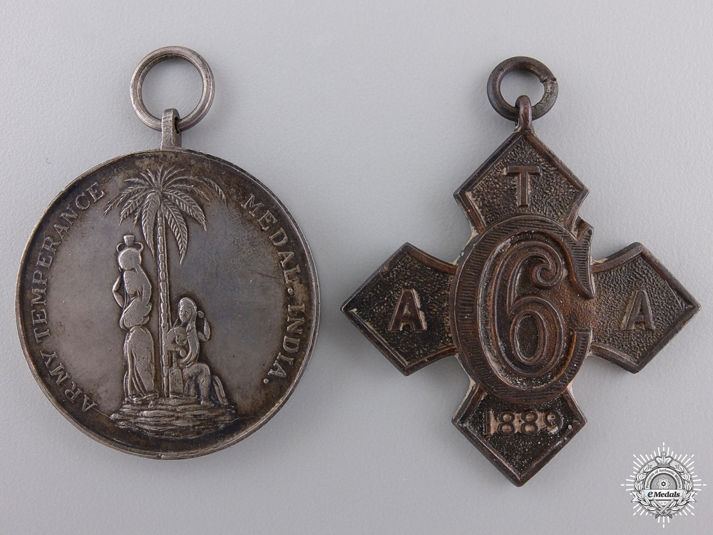 eMedals-Two British Army Temperance Association India Medals