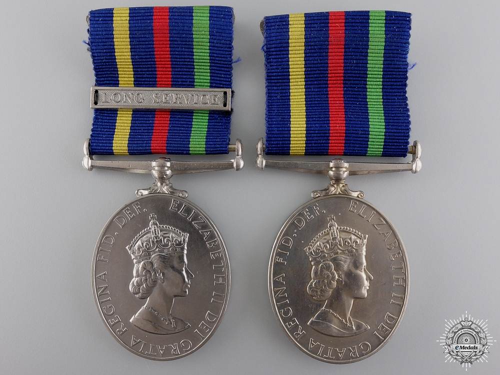 eMedals-Two British Civil Defence Long Service Medals