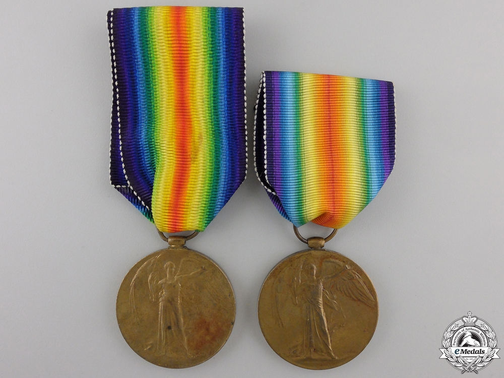 eMedals-Two First War British Victory Medals