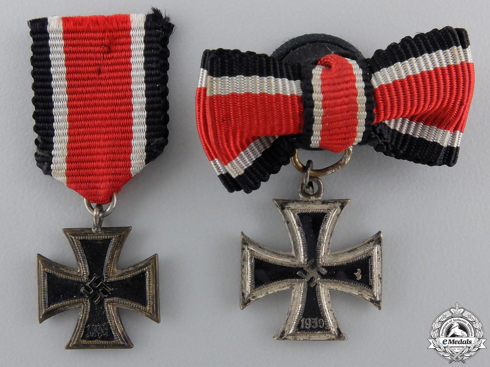 eMedals-Two Miniature Iron Crosses Second Class 1939