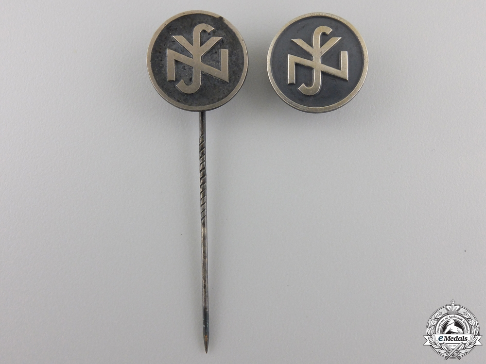 eMedals-Two RZM Silver German Social Welfare Pins