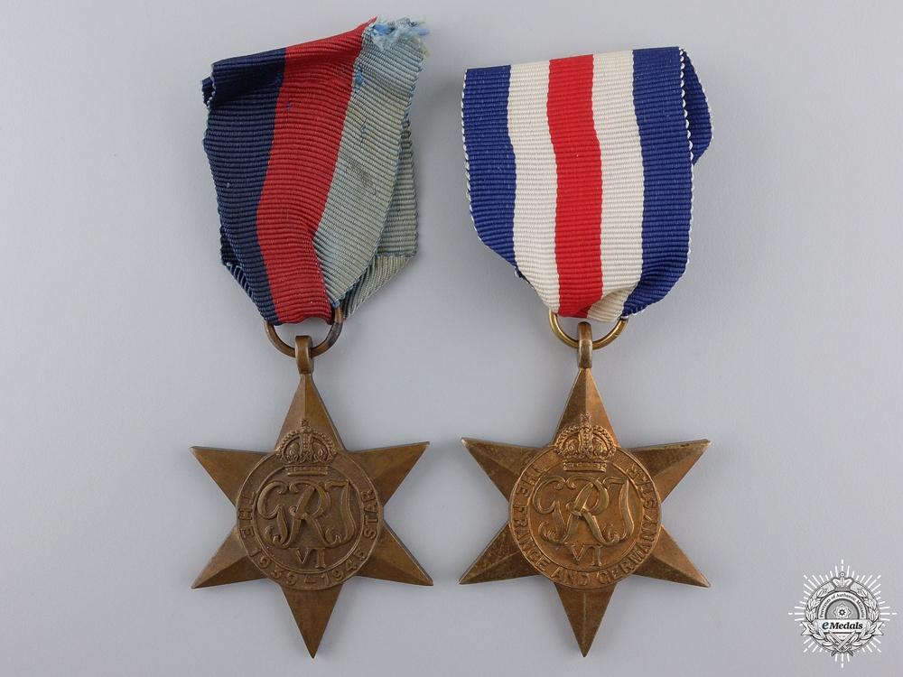 eMedals-Two Second War British & Commonwealth Campaign Stars