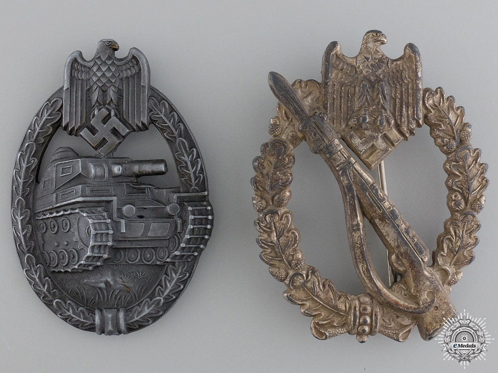 eMedals-Two Second War German Army Badges