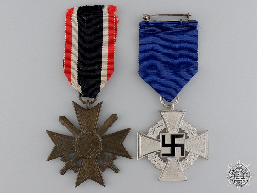 eMedals-Two Second War Merit & Service Awards