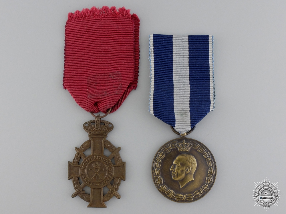 eMedals-Two Second War Period Greek Medals & Orders