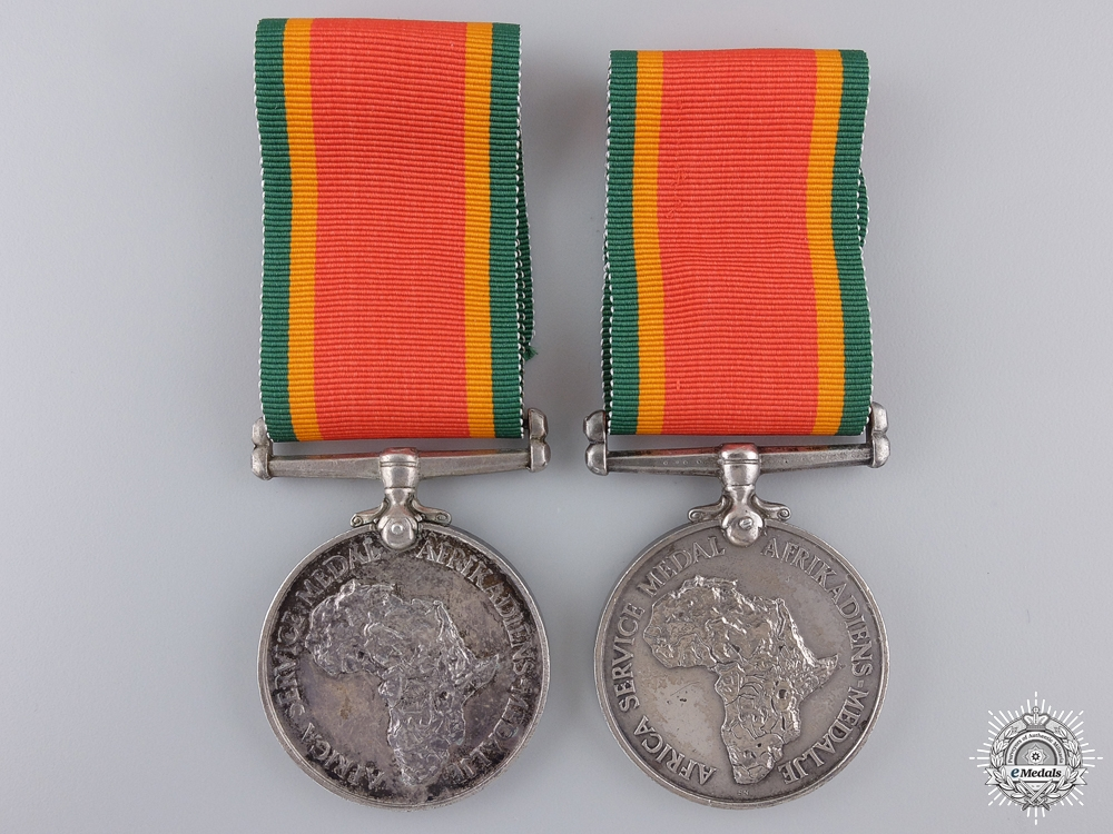 eMedals-Two Second War South Africa Service Medals 1939-1945