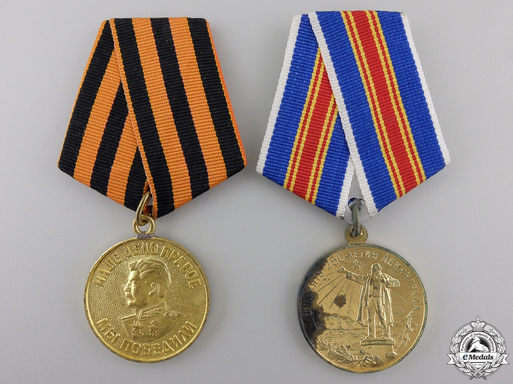 eMedals-Two Soviet Russian Medals and Awards