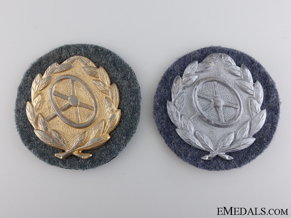eMedals-Two Uniform Removed Drivers Proficiency Badges