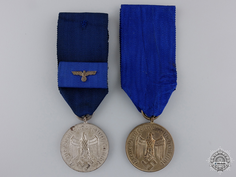 eMedals-Two Wehrmacht Long Service Medals