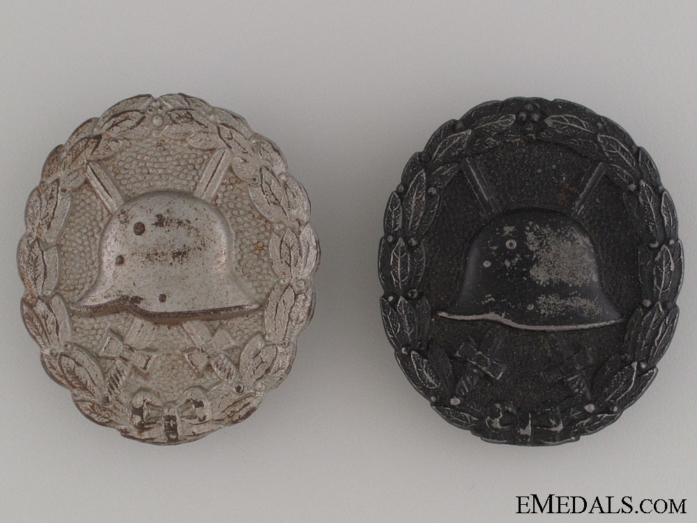 eMedals-Two WWI German Wound Badges