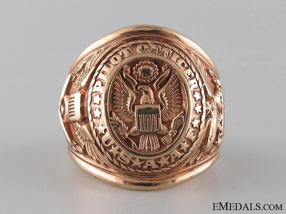 eMedals-US Army Air Forces, Pilot Officer Gold Ring