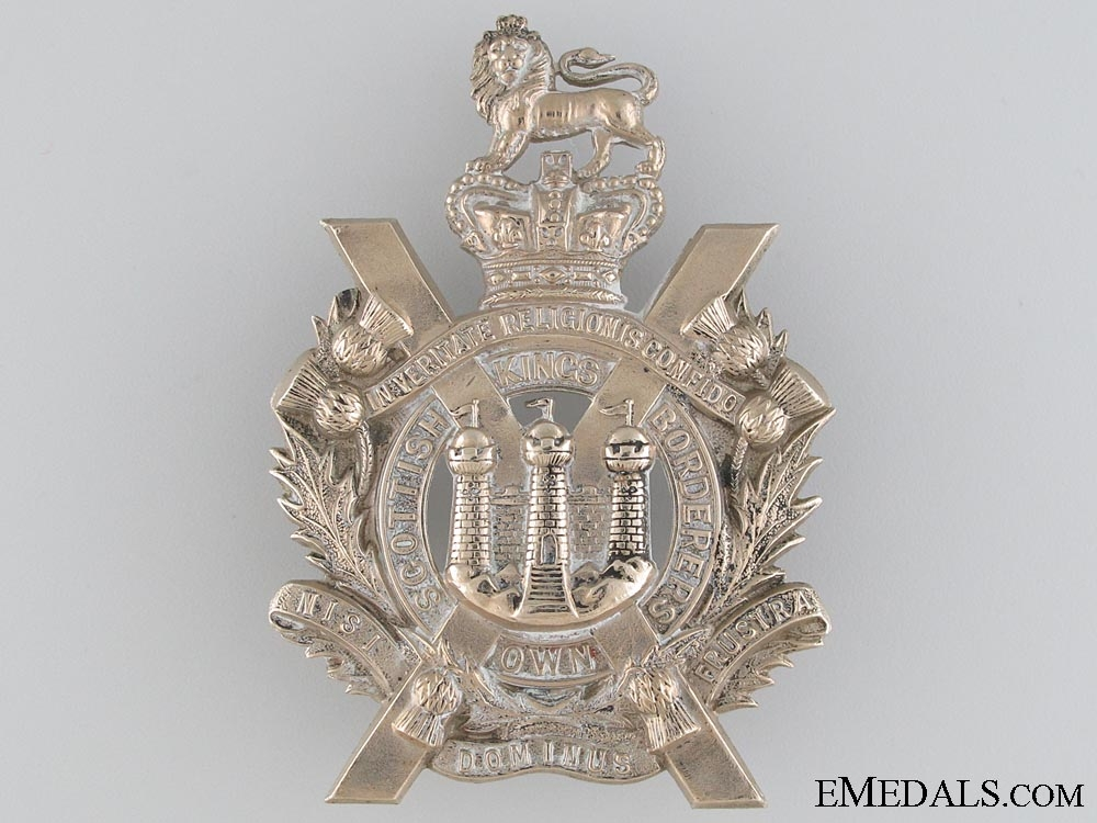eMedals-Victorian King's Own Scottish Borderers Glengarry Badge