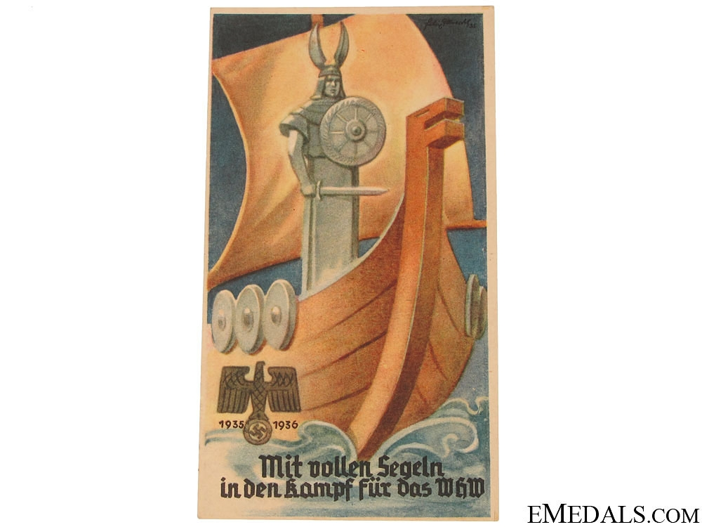 eMedals-Winterhilfswerk With Solid Sailing in the Fight for the WHW Handout, 1935-1936