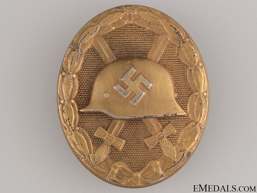 eMedals-Wound Badge - Gold Grade