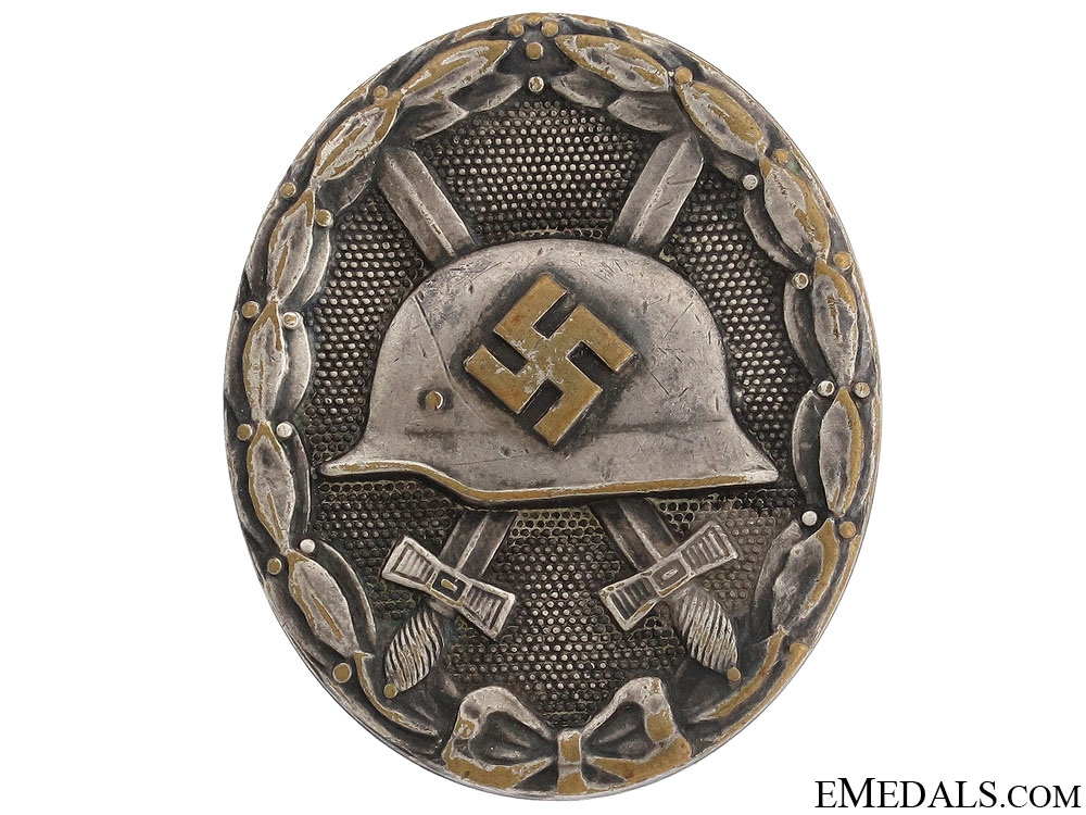 eMedals-Wound Badge - Silver Grade