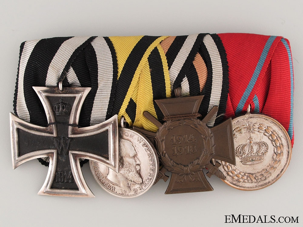 eMedals-Wurttemberg WWI Veteran's Medal Bar