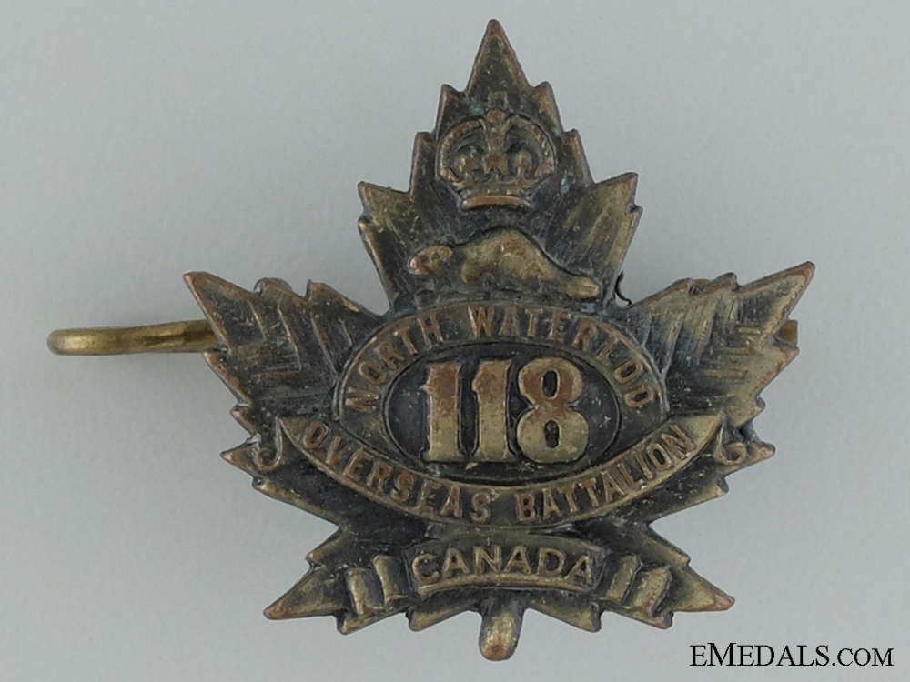 eMedals-WWI 118th Infantry Battalion Collar Badge CEF