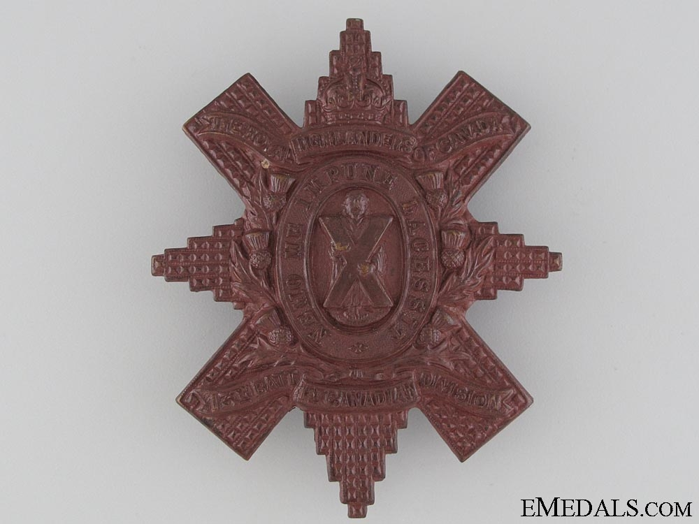 eMedals-WWI 13th Battalion Glengarry Badge