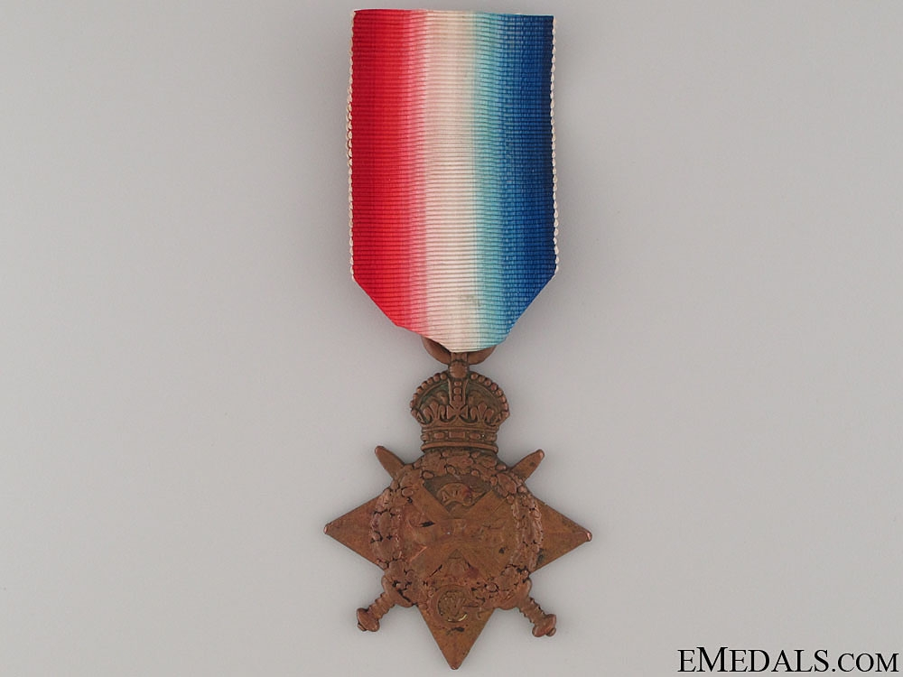 """eMedals-WWI 1914 """"Mons"""" Star to a Festubert Casualty"""