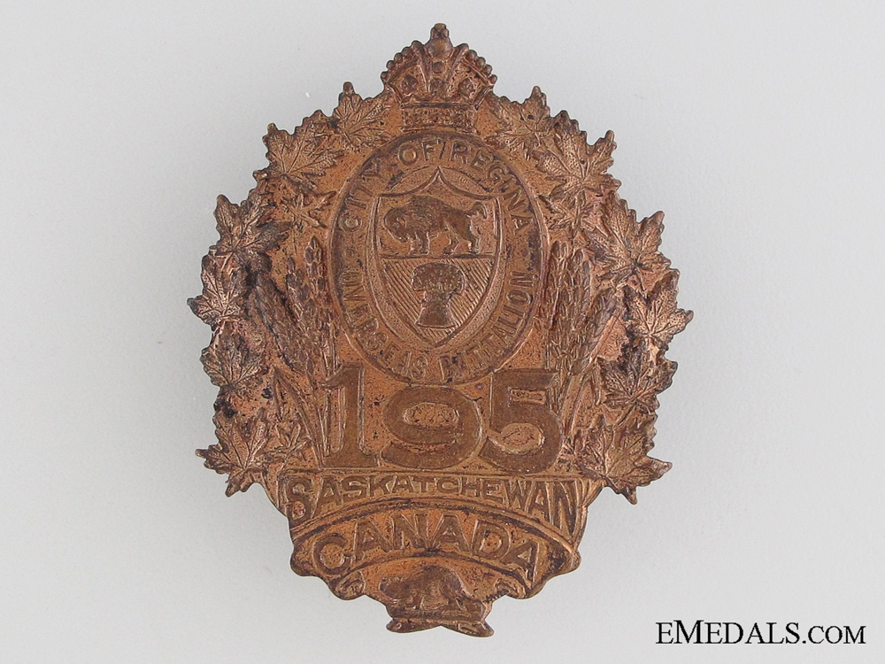 eMedals-WWI 195th Infantry Battalion Cap Badge CEF