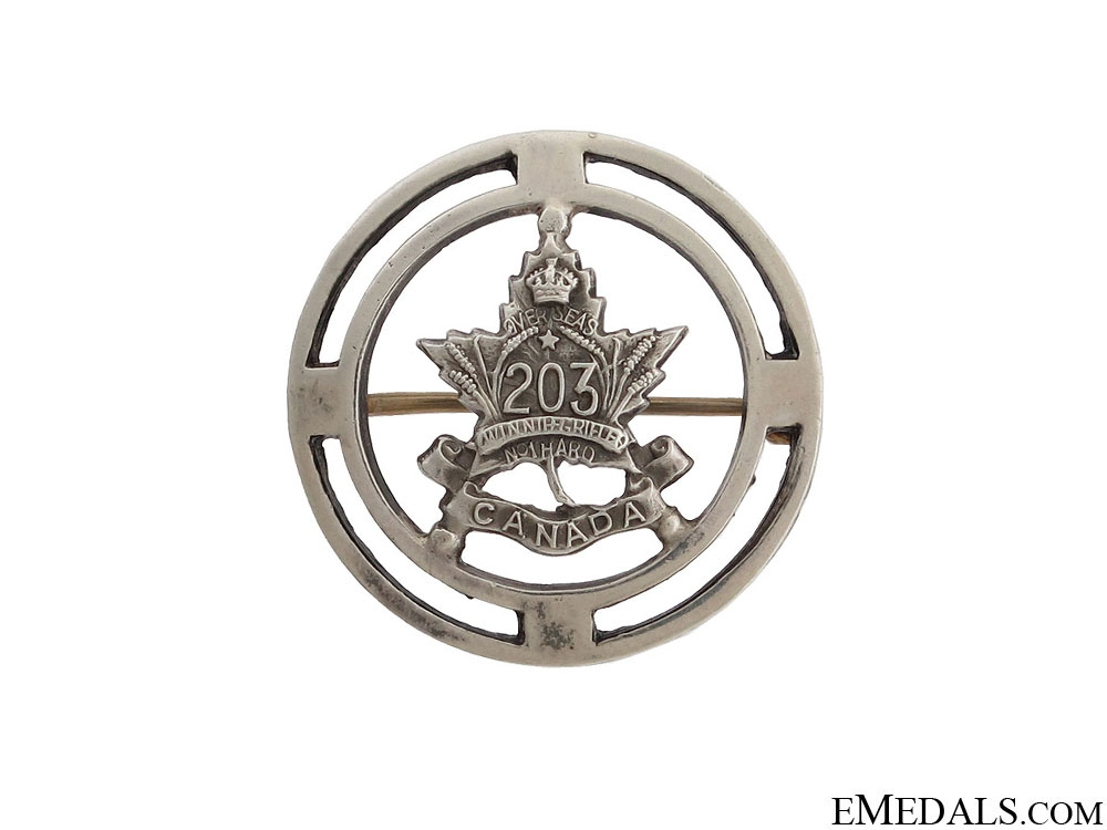 eMedals-WWI 203rd Infantry Battalion Pin CEF