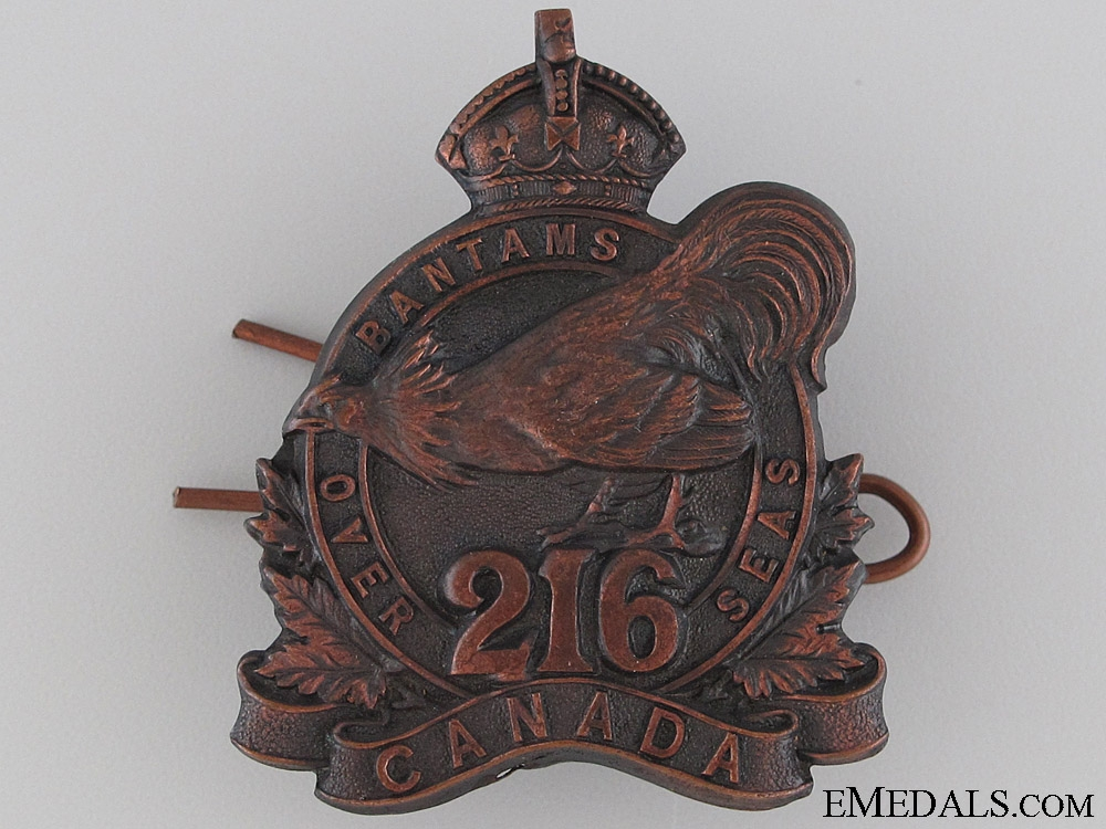 eMedals-WWI 216th Infantry Battalion Cap Badge CEF
