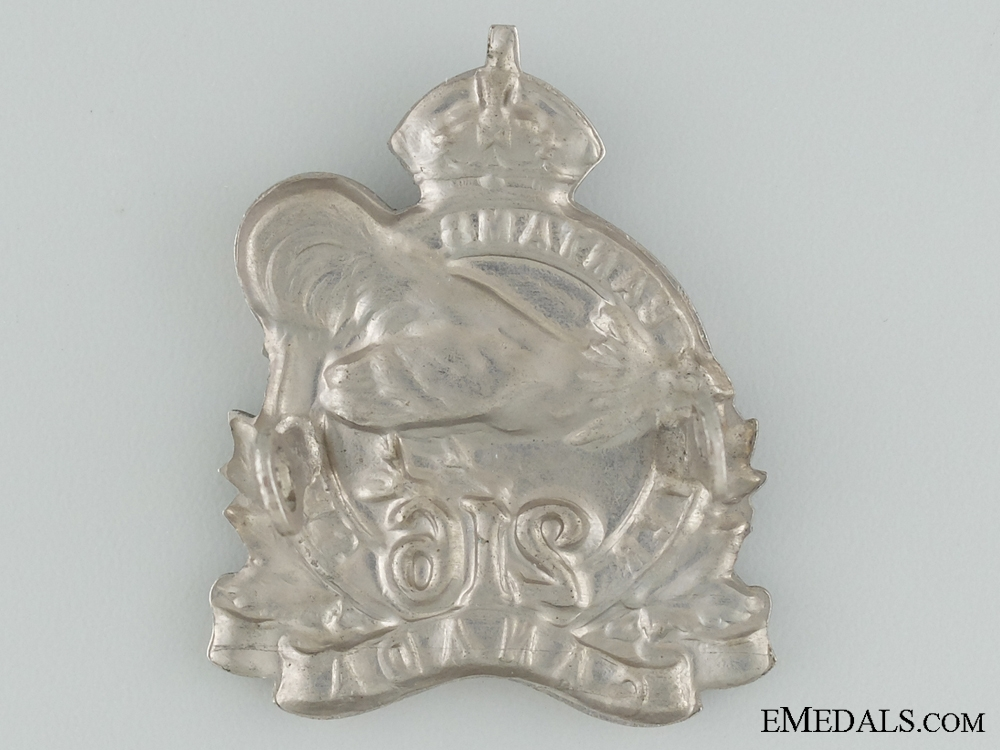 """eMedals-WWI 216th Infantry Battalion """"Toronto Bantams"""" Officer's Cap Badge"""