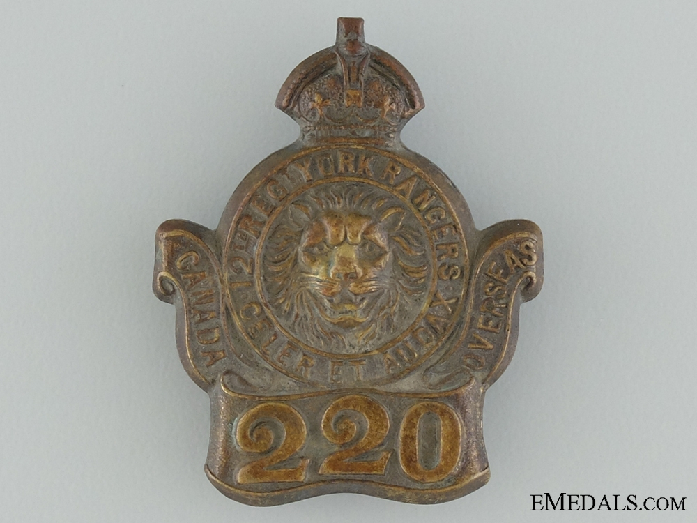 eMedals-WWI 220th Infantry Battalion Collar Badge