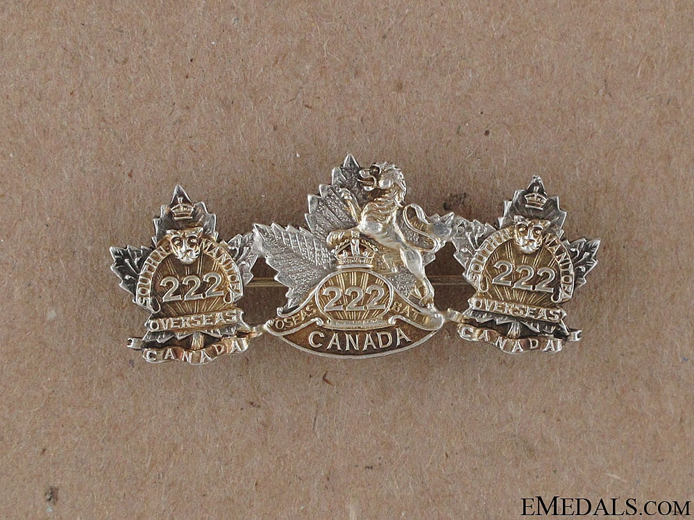 eMedals-WWI 222nd Infantry Battalion Sweetheart Pin
