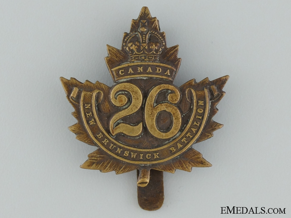 eMedals-WWI 26th Infantry Battalion Cap Badge CEF