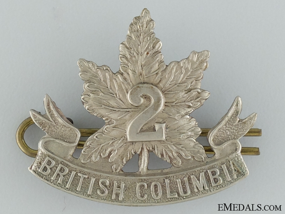 eMedals-WWI 2nd British Columbia Infantry Collar Badge CEF