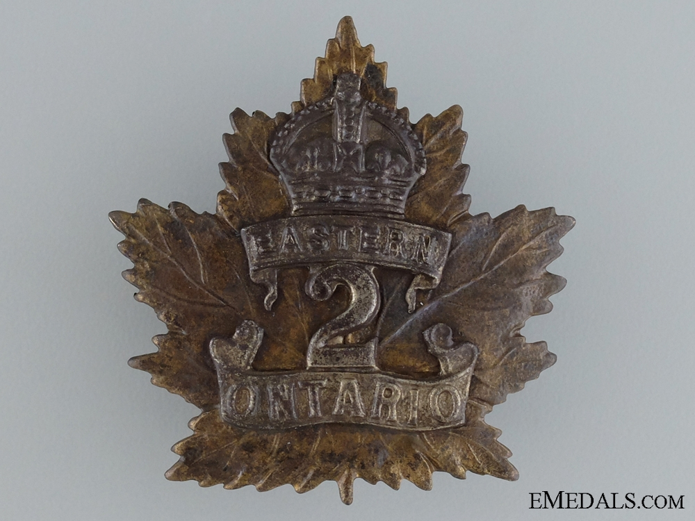 eMedals-WWI 2nd Infantry Battalion Cap Badge; 1st Version