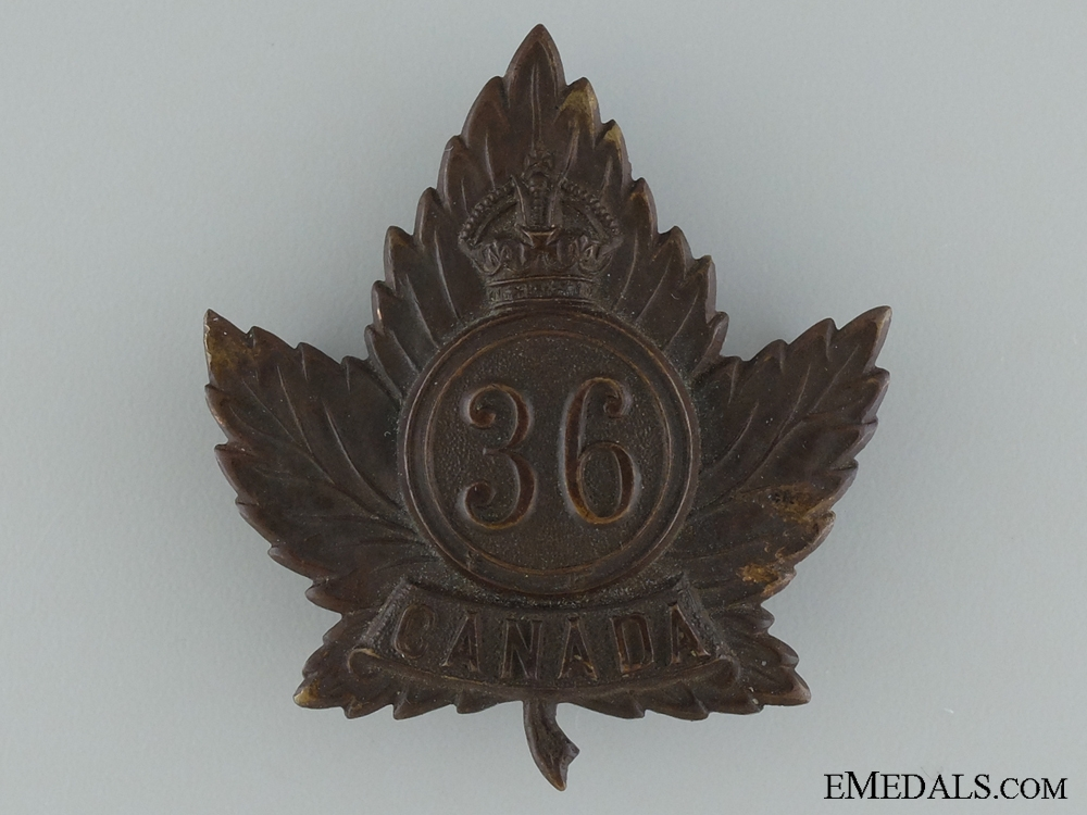 eMedals-WWI 36th Infantry Battalion Cap Badge