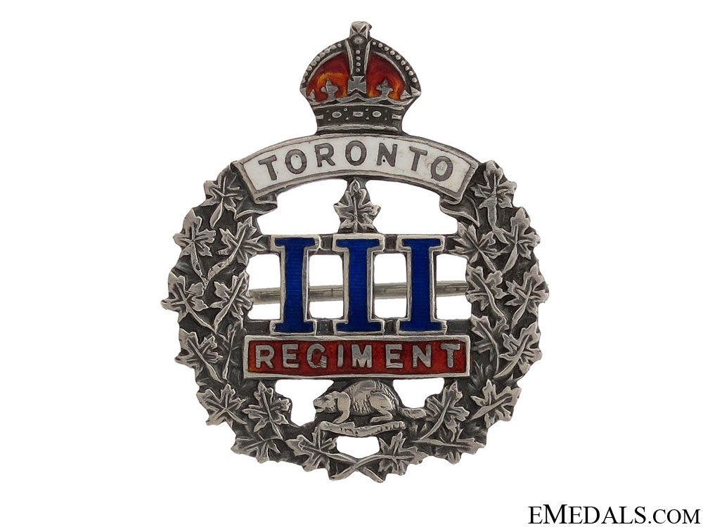 eMedals-WWI 3rd Infantry Battalion Toronto Regiment Pin