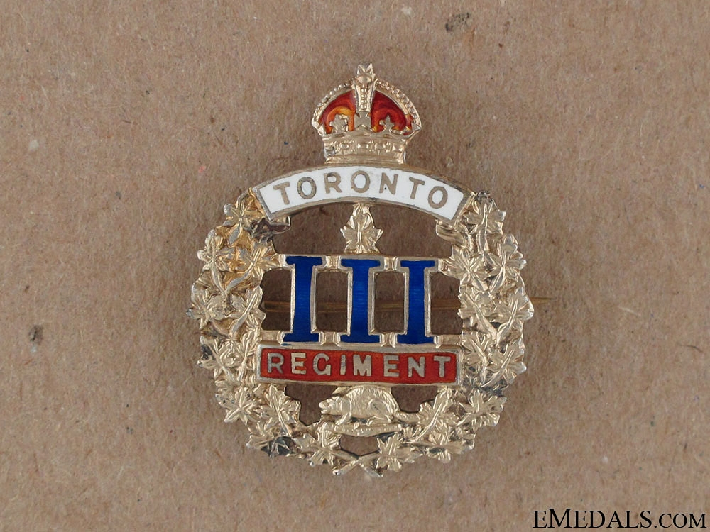 eMedals-WWI 3rd Toronto Regiment Sweetheart Pin CEF