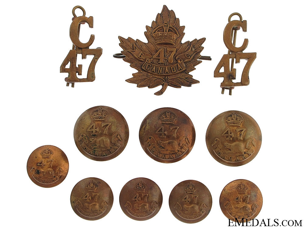 eMedals-WWI 47th Infantry Battalion Badges & Insignia