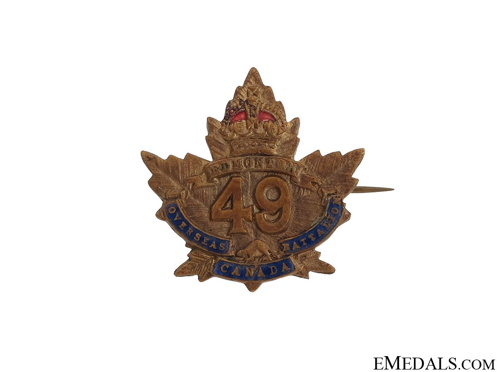 eMedals-WWI 49th Infantry Battalion Pin CEF