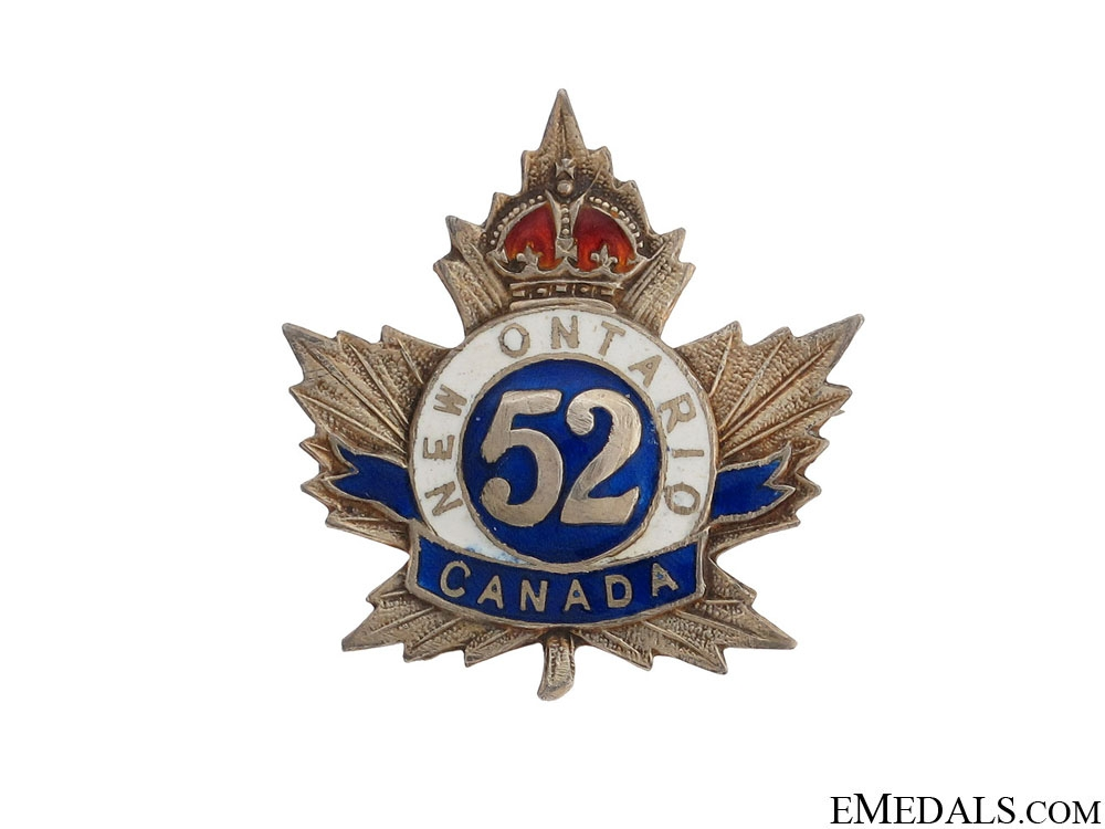eMedals-WWI 52nd Infantry Battalion Pin CEF