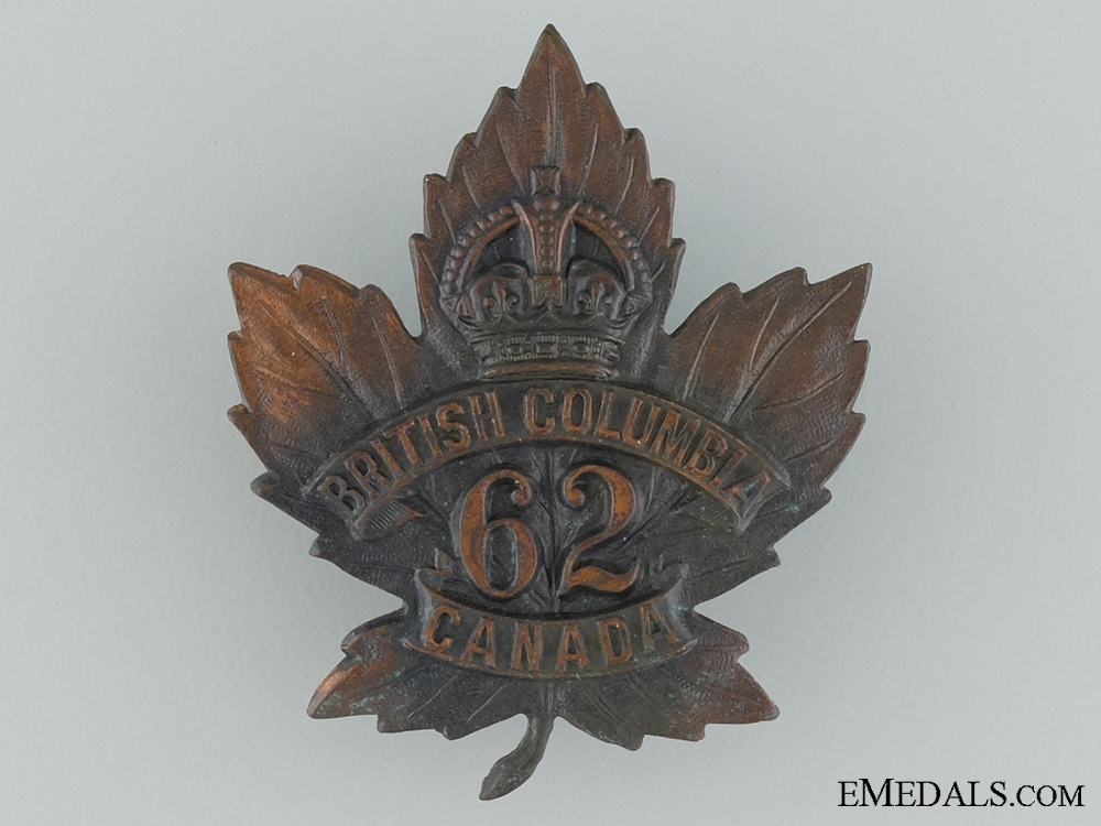 eMedals-WWI 62nd Infantry Battalion Cap Badge
