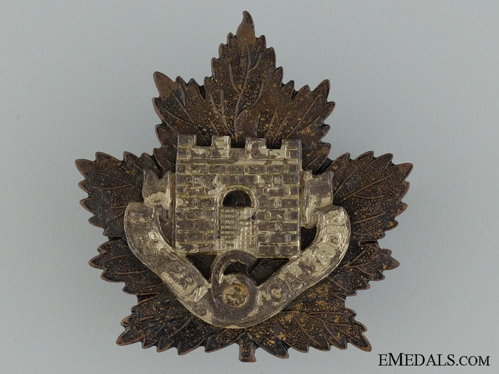 """eMedals-WWI 6th Infantry Battalion """"Fort Garry Horse"""" Cap Badge"""
