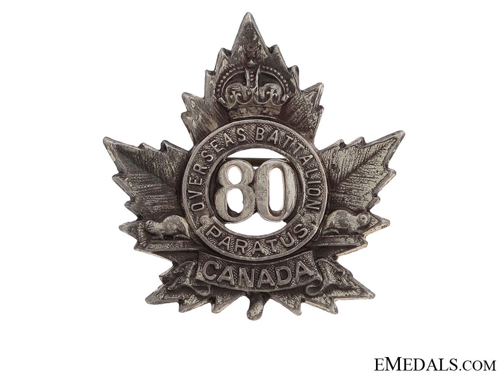 eMedals-WWI 80th Infantry Battalion Pin CEF