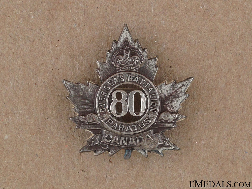eMedals-WWI 80th Infantry Battalion Sweetheart Pin