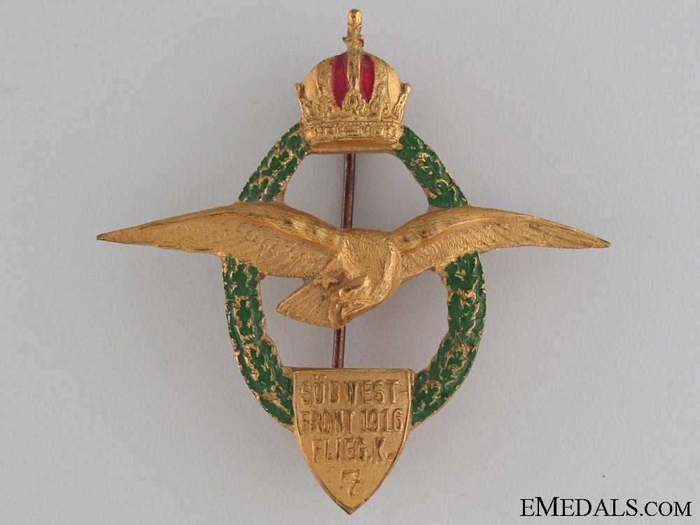 eMedals-WWI Austrian Air Force Squadron Badge 1916