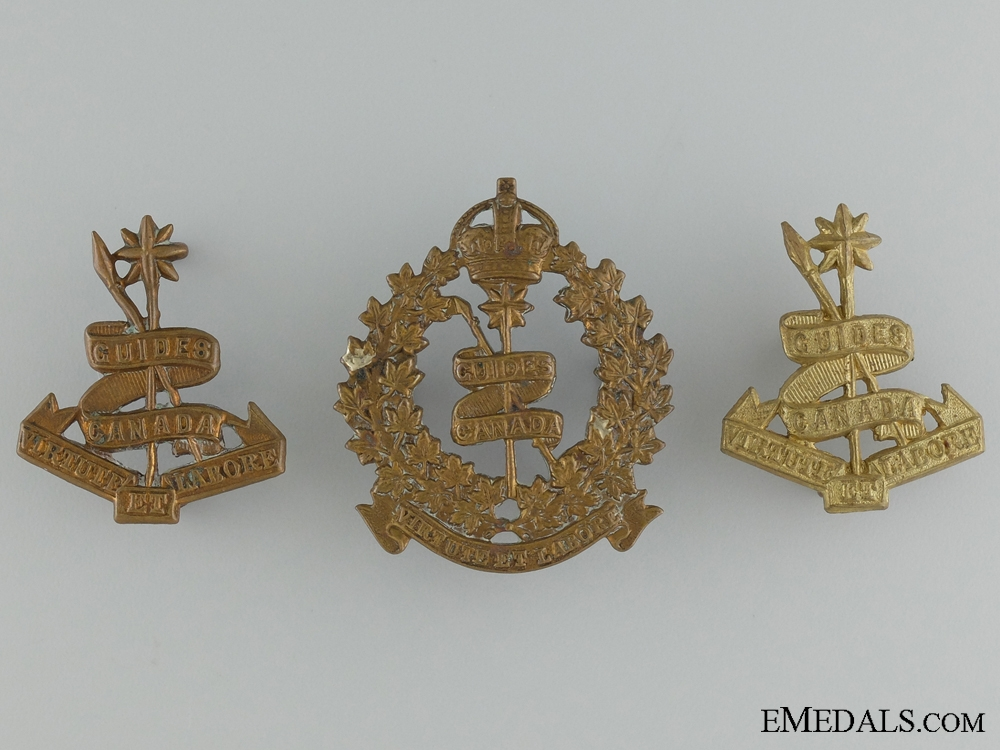 eMedals-WWI Canadian Corps of Guides Insignia Set
