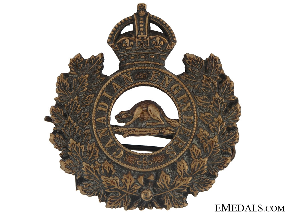 eMedals-WWI Canadian Engineers General Service Cap Badge
