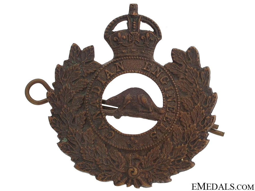 eMedals-WWI Canadian Engineers Cap Badge
