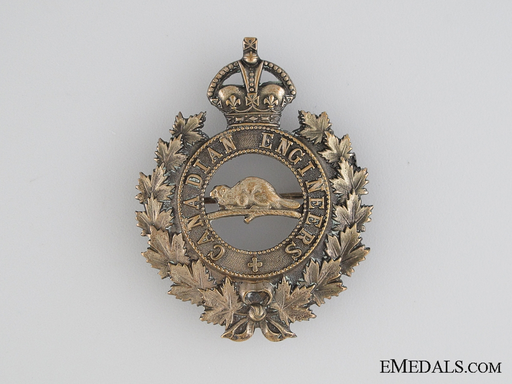 eMedals-WWI Canadian Engineers Cap Badge CEF